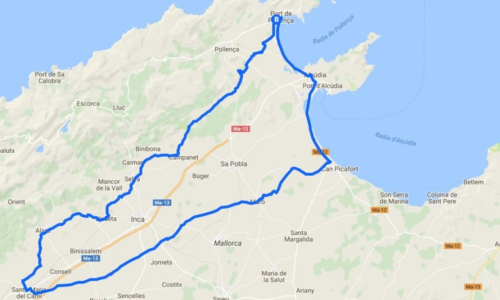 Cycling routes in Mallorca